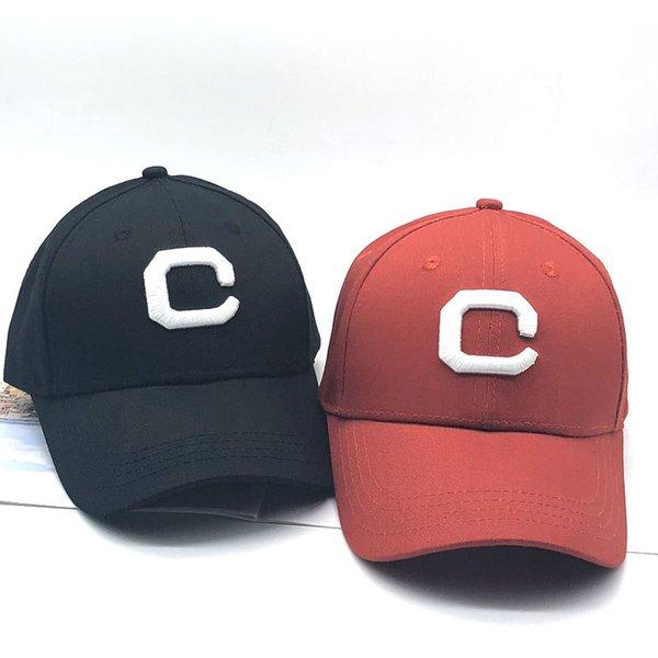 2018 Nuevo Algodón Bordado Carta C Ajustable Gorra de Béisbol Hombres  Mujeres Hueso Algodón Casquette Snapback bafed302147