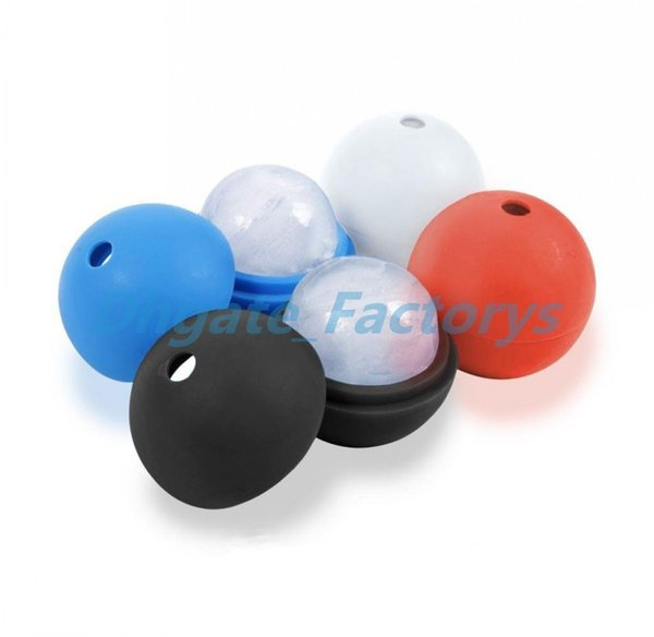 6cm Round Ice Mold Silicone Mold Large Whisky Ice Ball Maker Cube Silicon Bar Sphere Round Mould Sphere DIY Mold 10 Colors
