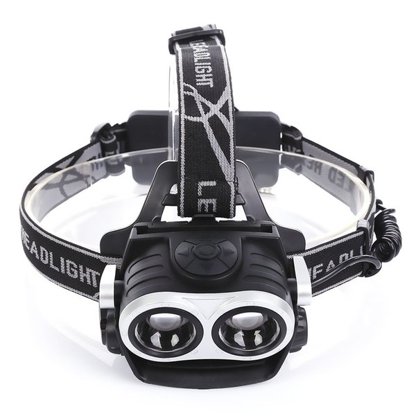 High-quality aviation 6063 aluminum alloy USB Rechargeable Bicycle Head Wear Light Headlamp Flashlight 400 lumens lamps