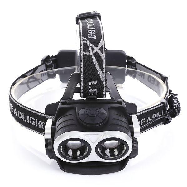 Aviazione di alta qualità 6063 in lega di alluminio USB ricaricabile per bicicletta Head Wear Light Torcia faro Torcia 400 lumen