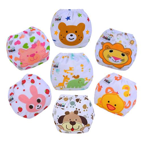 Cute Baby Diapers Infants Children Baby Cotton Training Pants Washable Baby Cloth Nappies