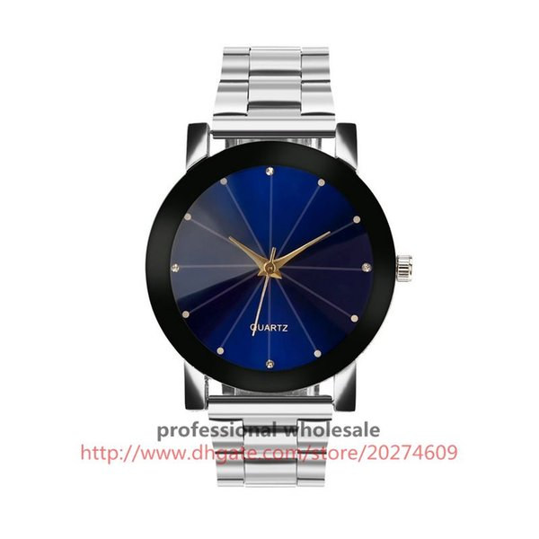 High Quality Watch Wholesale 6 Colors Black Silver Stainless Steel Quartz Watch Alloy Wristwatch For Men Women