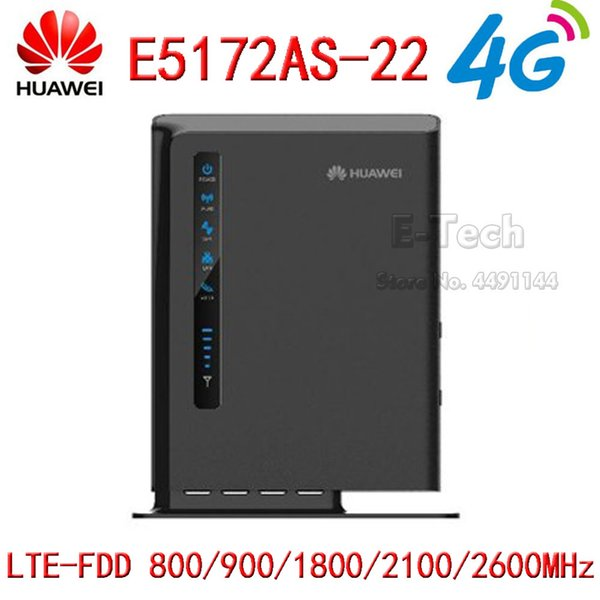 Unlocked Huawei E5172 E5172as-22 4G LTE Mobile Hotspot Gateway 4G LTE WiFi Router Dongle CPE Wireless Router PK B593
