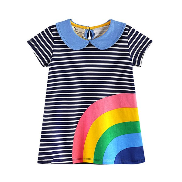 top popular Spring and girls' dress 2018 spring and summer dress for kids cross border clothing soft beautiful summer dress for girls 2021