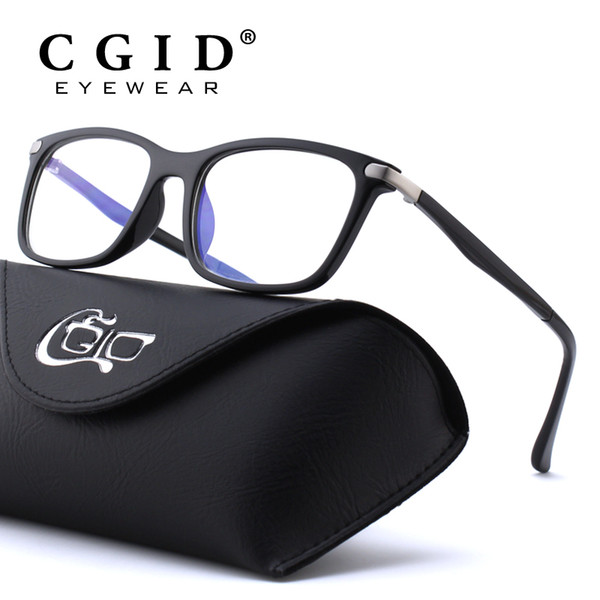 CGID TR90 Computer Glasses Anti Blue Rays Radiation Optical Print Glasses Square Eye PC Frames Men and Women CT46