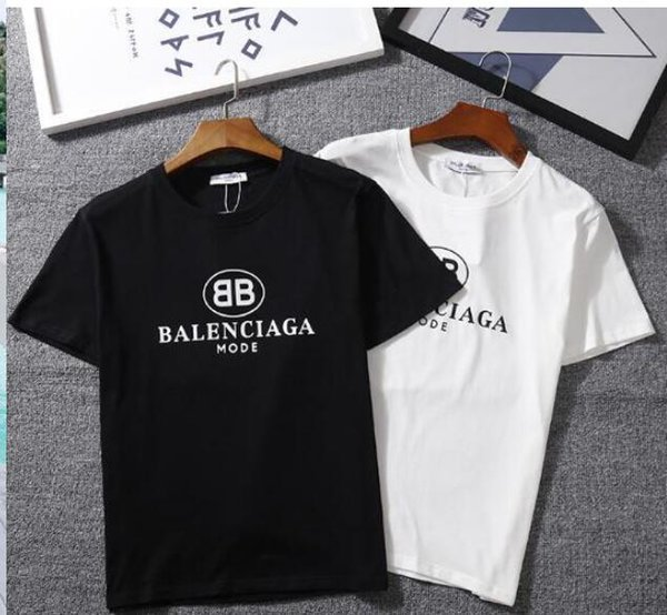 2018 летний прилив бренд с коротким рукавом Harajuku стиль мужчины и женщины шею пуловер классический письмо ЛООГ половина рукавами пара рубашка breathab