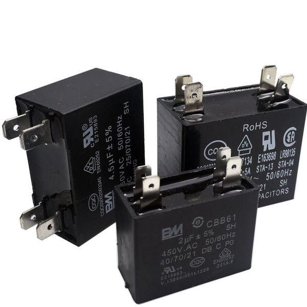 450VAC CBB61 capacitor 1.2/1.5/2/2.5/3/3.5/4/4.5uF for air conditioner fans