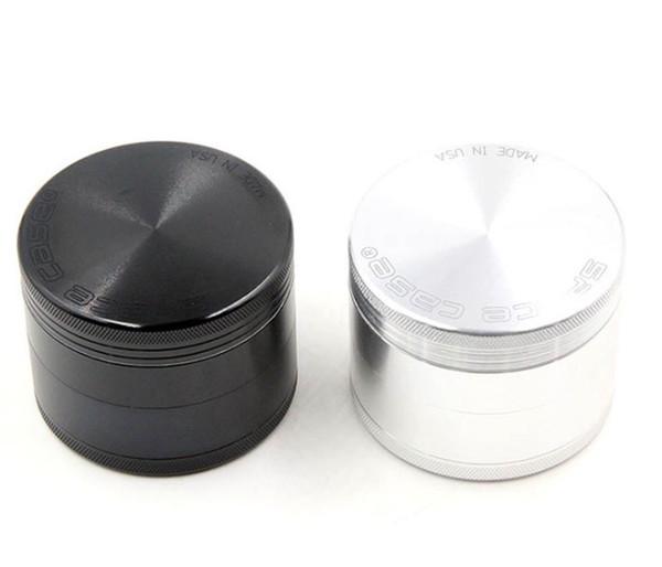 63mm 4pc Space Case Grinder CNC Space case® herb grinder Aluminum smoking cigarette detector smoking Tobacco grinder for herb VS sharpstone