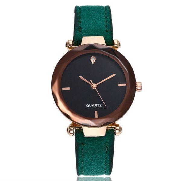 Großhandel Mode Damen Kaffee Zifferblatt Diamant Spiegel Uhren Frauen Männer Matt Leder Uhr Großhandel Geschenk Quarz Casual Dress Armbanduhren Von