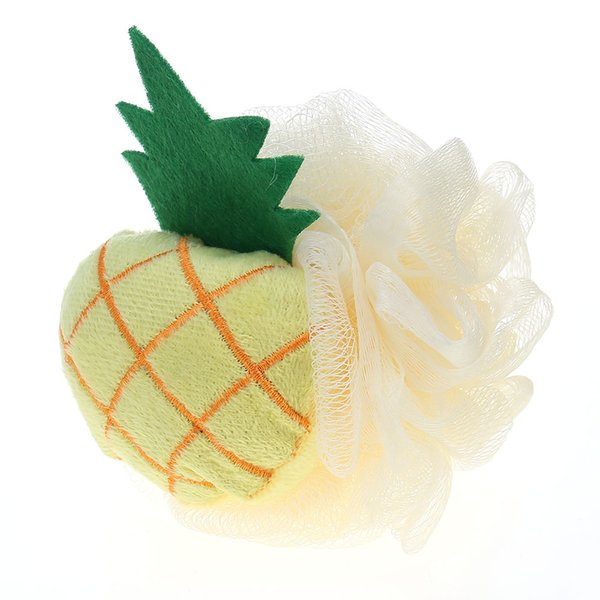 reizende vorbildliche Duschbadblumen / Badpinsel 1PC niedliches Fruchtformbadeballbadezimmerschwamm-Reibungstuch