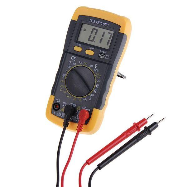 Multímetro digital Probador Medidor de pinza Eléctrico LCD AC DC Voltímetro Ohmímetro Probadores múltiples aptos para amantes de la tecnología inalámbrica amateur