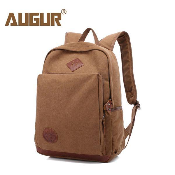 AUGUR Fashion Men Women Backpack Canvas Travel Laptop Bag Rucksacks Famale Backpacks Teenagers Student School Bags for Girls