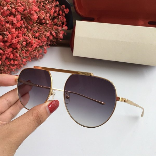 Womens Man Square Sunglasses Black/Gold Frame Gold Mirrored Lens FASHION BRAND 1013 SUNGLASSES With original Case NUMGG180926-25