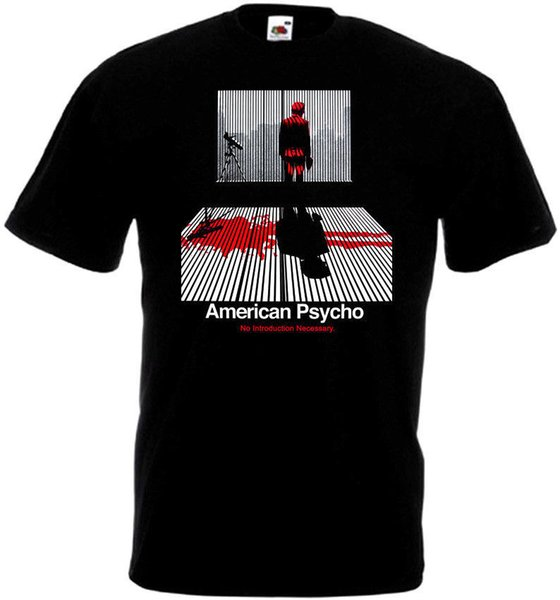 Американский Психо футболка черный фильм плакат Все размеры S-3xl мультфильм печати с коротким рукавом футболка Бесплатная доставка