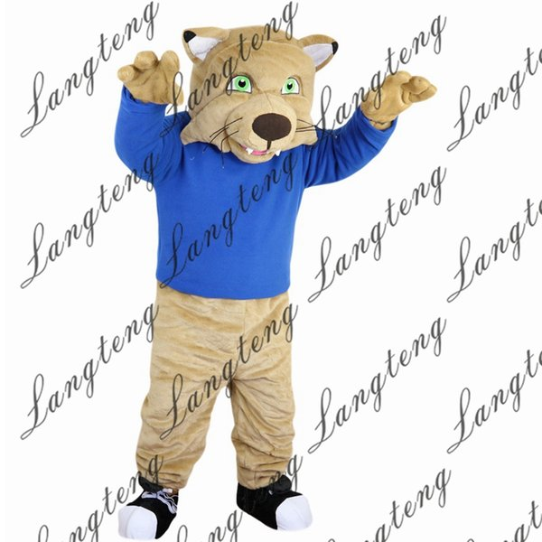 2018 New high quality Sport cat tiger leopard Mascot costumes for adults circus christmas Halloween Outfit Fancy Dress Suit Free Shipping