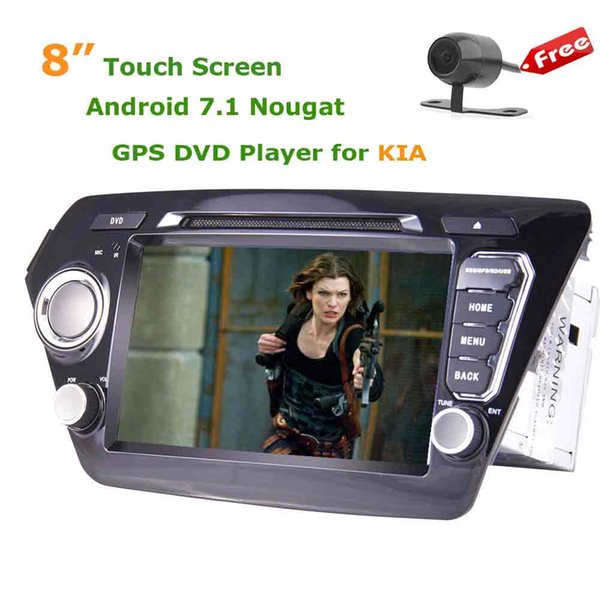 "Andorid 7.1 car DVD Player 8"" Double 2Din in Dash GPS Headunit Bluetooth 4G WIFI Mirror Link USB/SD Port for KIA"