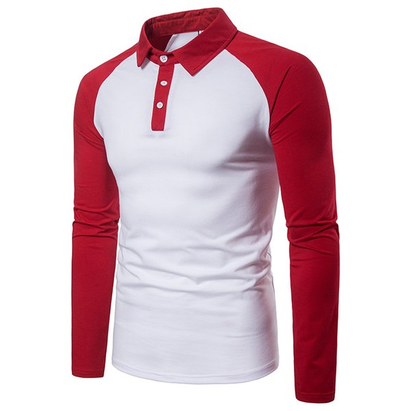 sports shoes 554f1 f1896 2019 Mens Polo Shirt Brands 2018 Male Long Sleeve Casual Slim Camisa Polos  Hombres Classic Raglan Sleeve Polos For Boys Baseball Jersey From ...