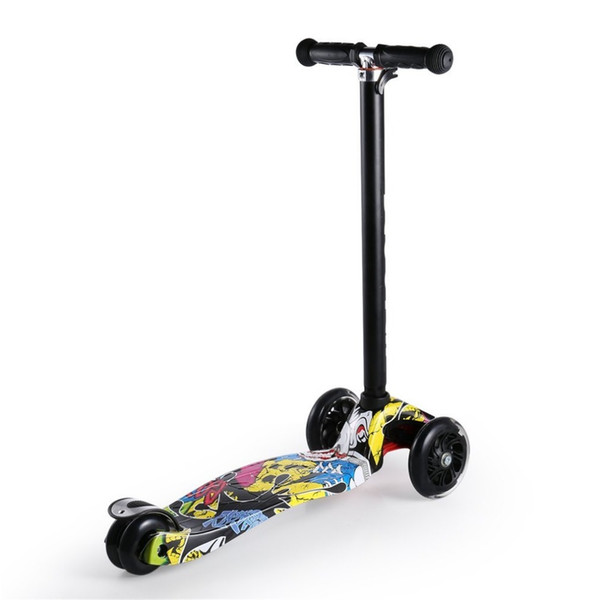 4 Height Adjustable Aluminum Alloy Foldable 2 PU Wheels Mini Children Kids Kick Scooter Train Balance Coordination 2018 HOT