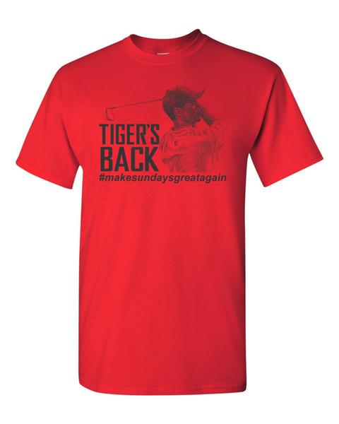 Тайгер-х обратно леса # сделать воскресенье большой снова мужская футболка 1791