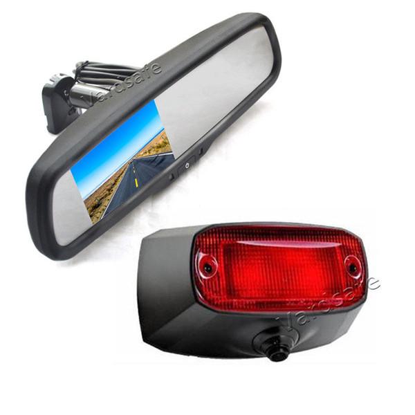 Vardsafe OE508R   Car Brake Light Backup Camera & Replacement Mirror Monitor for Dodge Ram Promaster