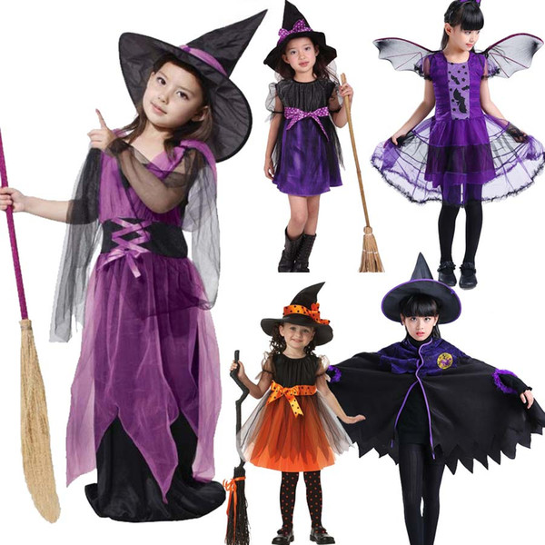 Fantasy Child Halloween Costume Cosplay for Kids Girls Witch Dresses Children Clothing Witch Costumes Dress for Girls Baby Girl