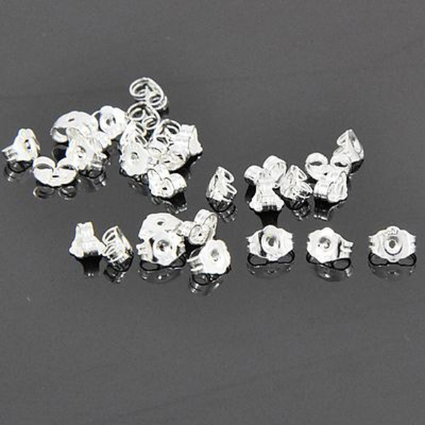 Earring Accessories Findings Silver Butterfly Ear Backs Stoppers 925 Stamped