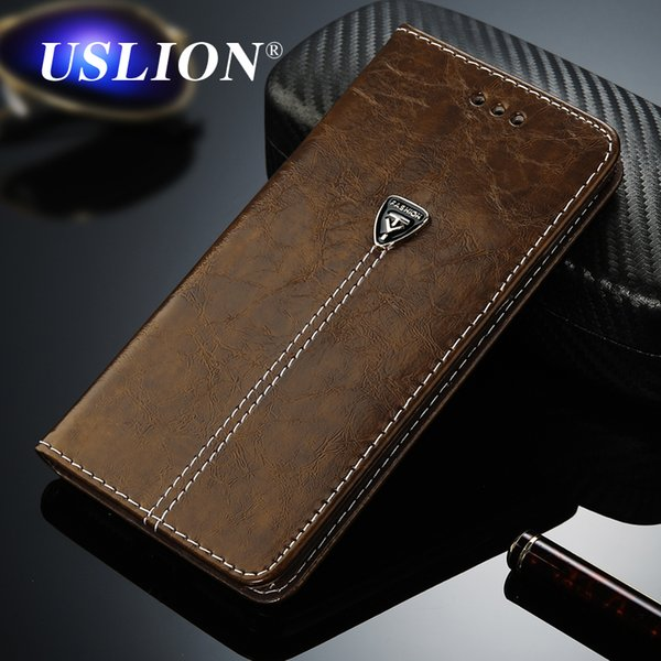 2018USLION Luxury Flip Leather Phone Case For iPhone 7 4 4s 5 5s SE 6 6 Plus Wallet Card Slots Cases Cover For iPhone X 7 8 6 Plus