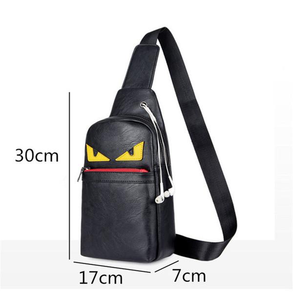 Mini Handtasche Teenager Jungen Brust Taschen Erwachsene Praktische Tasche Männer Lässig Reise Outdoor Sports Fahrrad Umhängetaschen PU Schwarz
