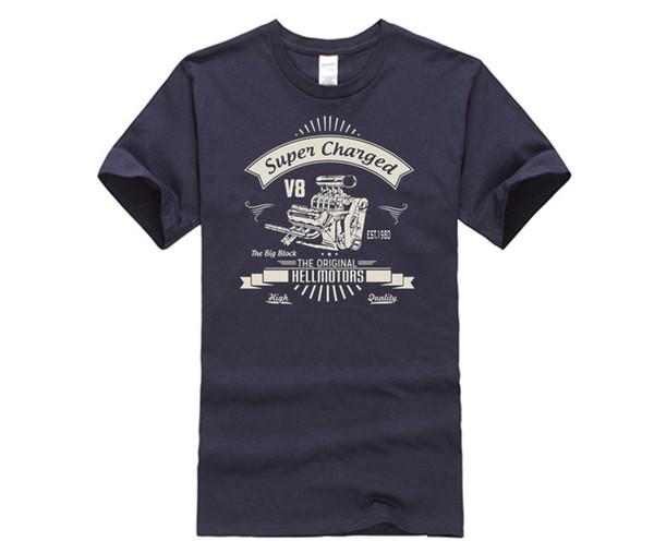 DIY style mens t shirts New High Quality Vintage Us Car T-Shirt Big Block 2 V8 Old School Muscle Car Tee