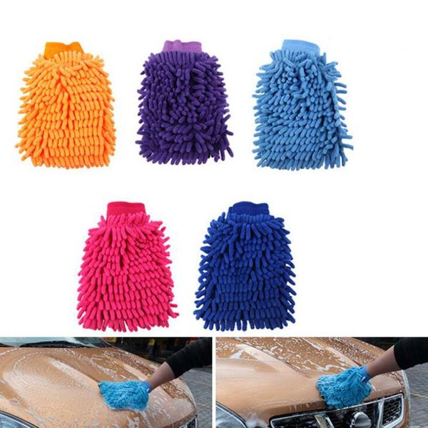 Car Washing Cleaning Gloves Double Side Chenille car wash Tool Microfiber Cleaning gloves Wholesale Free Shipping