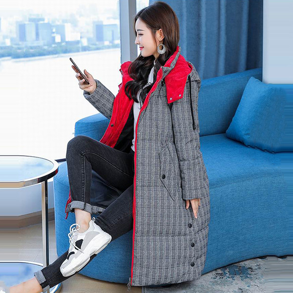 New Autumn Winter Coats Design Padded Down Cotton Plus Size L-XXXXXL Slim Jackets Detachable Hooded Zipper Women Fashion Parkas