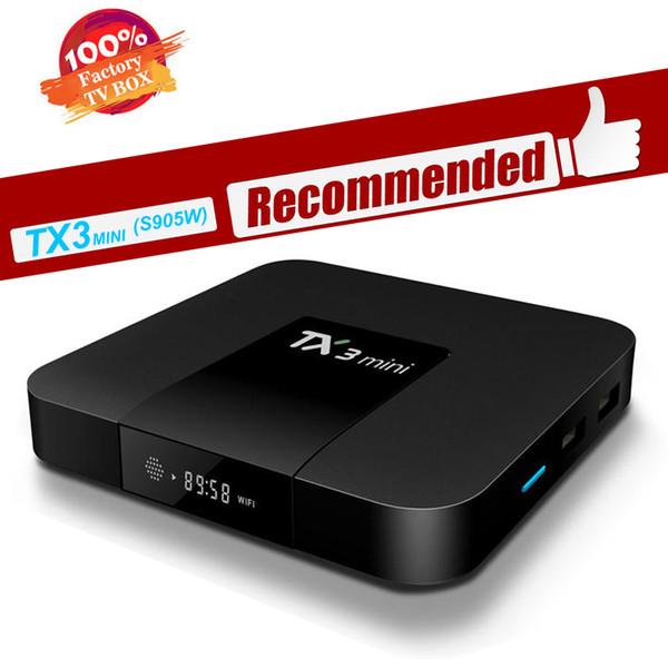X96 mini TX3 Mini Android 7.1 TV BOX 2GB 16GB 1GB 8GB Amlogic S905W Google Play Store Netflix Media Player smart TV box