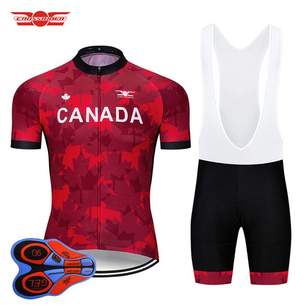 9296de87a Summer 2018 Canada Cycling Jersey Set Mountain Bike Clothing Cycling Wear  Bicycle Bike Clothes Ropa Ciclismo