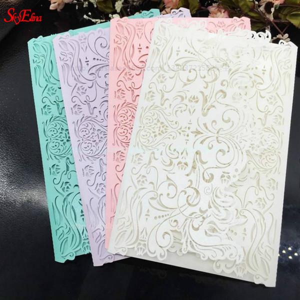 1000 pezzi / lotto carta invito a nozze kit matrimonio vuoto interno foglio vuoto compleanno invito 6ZSH070-1000