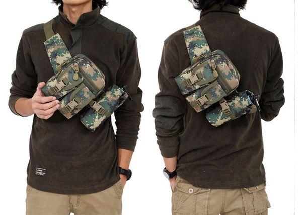 mochila mochila bolsa bolsas mochilas hombro táctico impermeable Oxford molle camping piking bolsa hervidor bolsillo cintura Paquete Bolsa Exterior