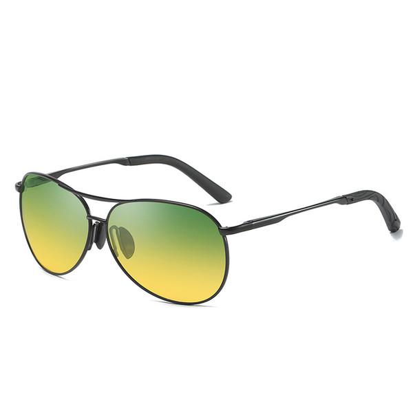 2018 Day Night Vison Polarized Glasses Polarisierte Sonnenbrille für Herren mit Multifunktionsfunktion