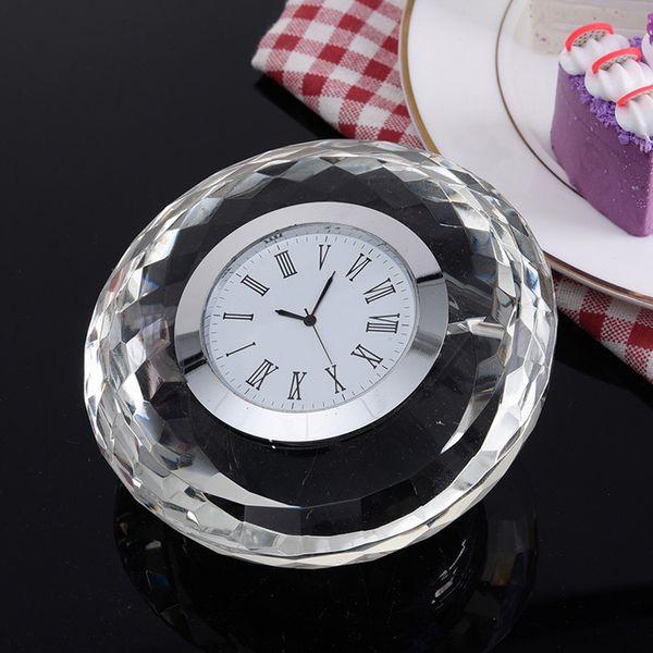 Creative K9 crystal souvenir crystal table clock for gifts