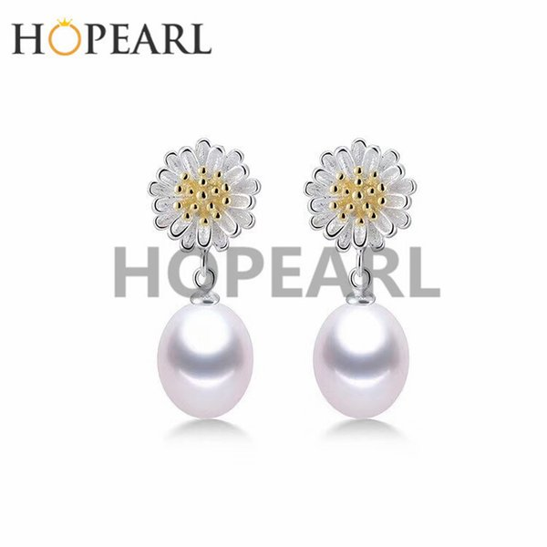 earring blank without pearl yellow center with white petals flower earrings findings 925 sterling silver diy