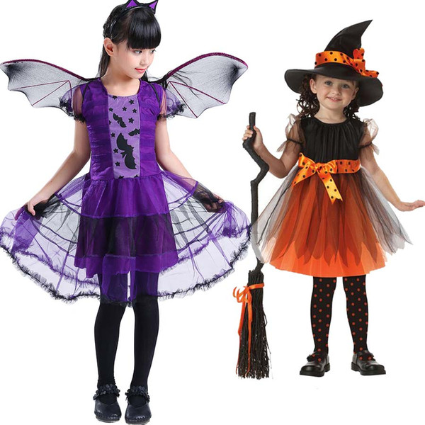 Baby Halloween Dress Kids Girls Children Vampire Witch Costume Girl Halloween Costume Cosplay Carnival Party Witch Dress