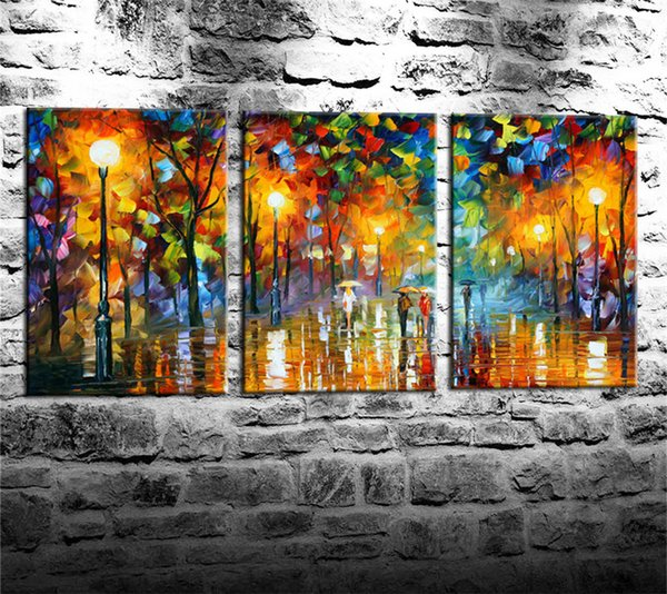 2019 People Walking On The Street Canvas Prints Wall Art Oil Painting Home Decor Unframed Framed From Pan532228517 13 67 Dhgate Com
