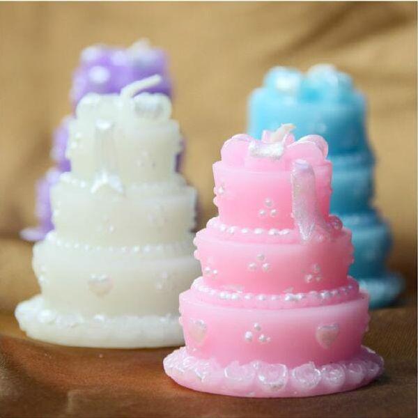Торт свечи / розовый