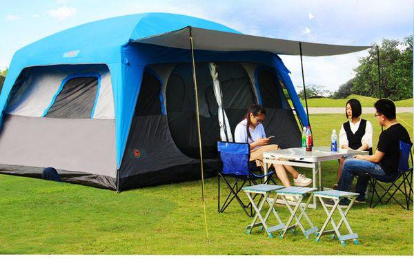 TY ao ar livre de alta qualidade À Prova de Vento à prova d 'água à prova d' água família Durável camping engrenagem tenda do partido tendas de inverno pré-fabricadas de luxo