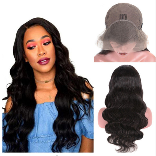 Brazilian Body Wave Lace Front Human Hair Wigs For Women PrePlucked Natural Hairline 13*4 Lace Part Remy Hair Wig Black