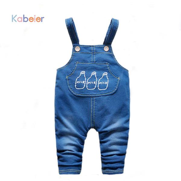 Kids Denim Tute per bambino ragazza tuta bavaglino pantaloni bambino denim pagliaccetto neonate maschi jeans pantaloni 1PCS abbigliamento per bambini