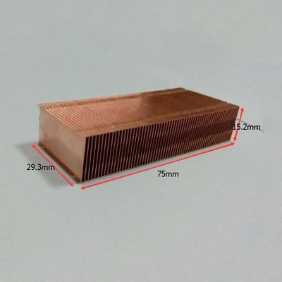 75*29.3*15.2mm Pure Copper Radiator Copper Cooling fins fin Can be DIY longer heat sink radiactor fin Coliing