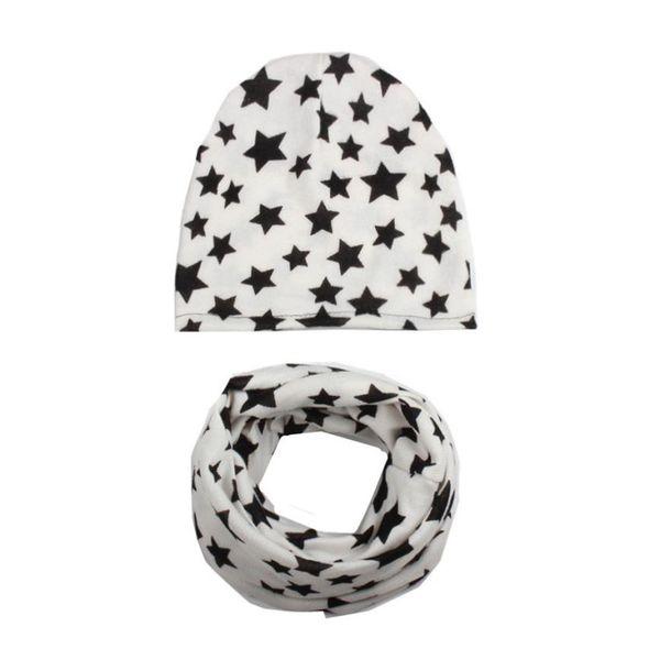 TELOTUNY Autumn Winter Baby Hat Girl Boy Cap Children Hats Toddler Kids Hat Scarf Collars Cotton Blend Cute Stare Print S3FEB13