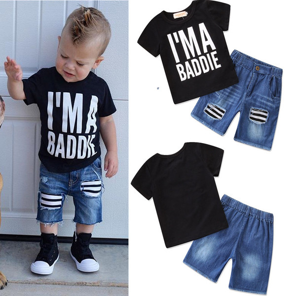 2018 Kids Clothing Sets Two-piece 14 Designs Summer for Boys Girls Baby Clothes Short Sleeve Cotton Shirt Pants Shorts 6M-7T