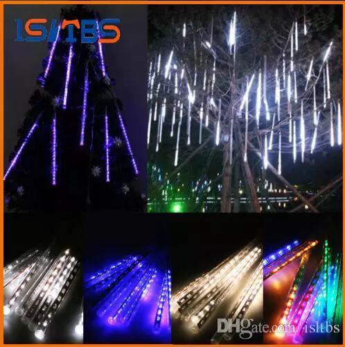 20CM 30CM 50CM Meteor Shower Rain Tubes Mini Meteor Lights LED Strings Light 8pcs LED Light Christmas Light Wedding Garden Decoration