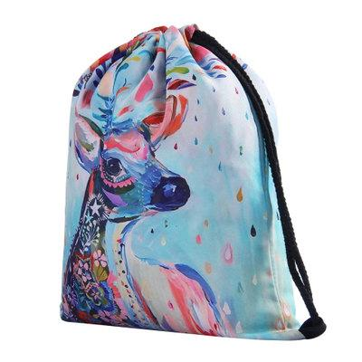 drawstring bag 3D printing bags travel backpack man women harajuku drawstring bag for unisex 20 styles
