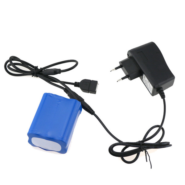 8.4V Rechargeable 18650 Bike Light Battery Pack USB+DC Port 6x18650 8800mah Battery Power For Bicycle Headlamp With Charger